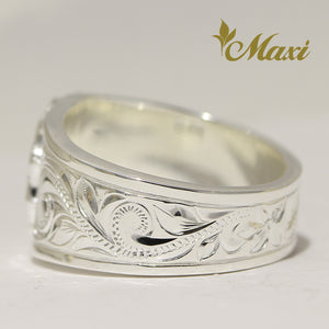 [Silver 925] Tapper Maile Leaf Ring (R0855) [Made to Order]