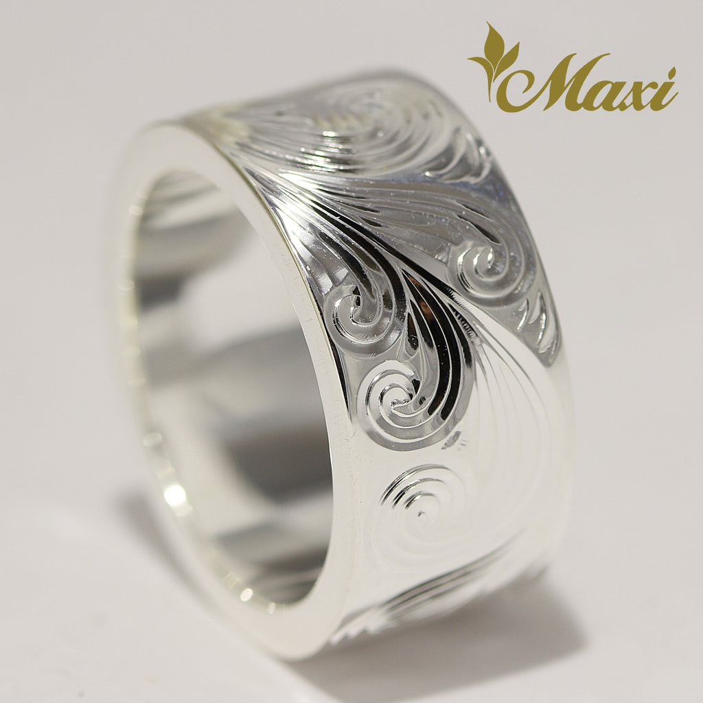 [Silver 925] 10mm*2mm Dolphin & Scroll Ring (R0858) [Made to Order]