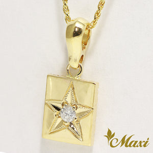 Pending - [14K Yellow Gold] Square Star 3mm