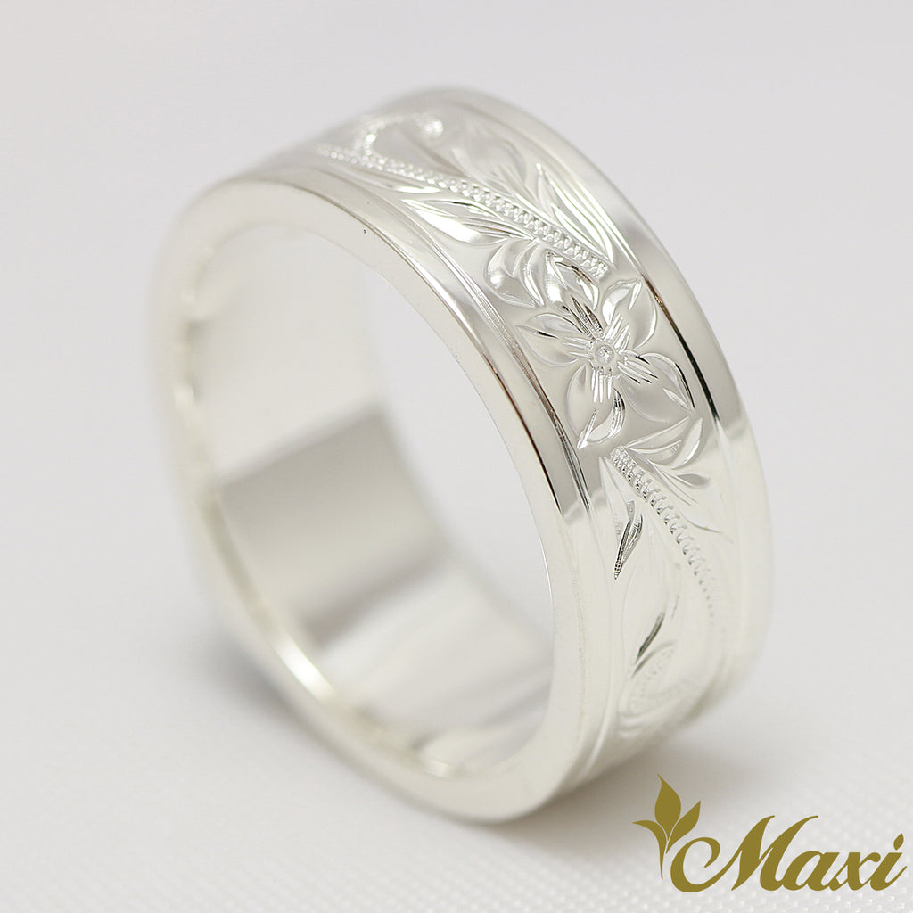[Silver 925] Border edge Flat Ring 8mm*2mm [Made to Order]