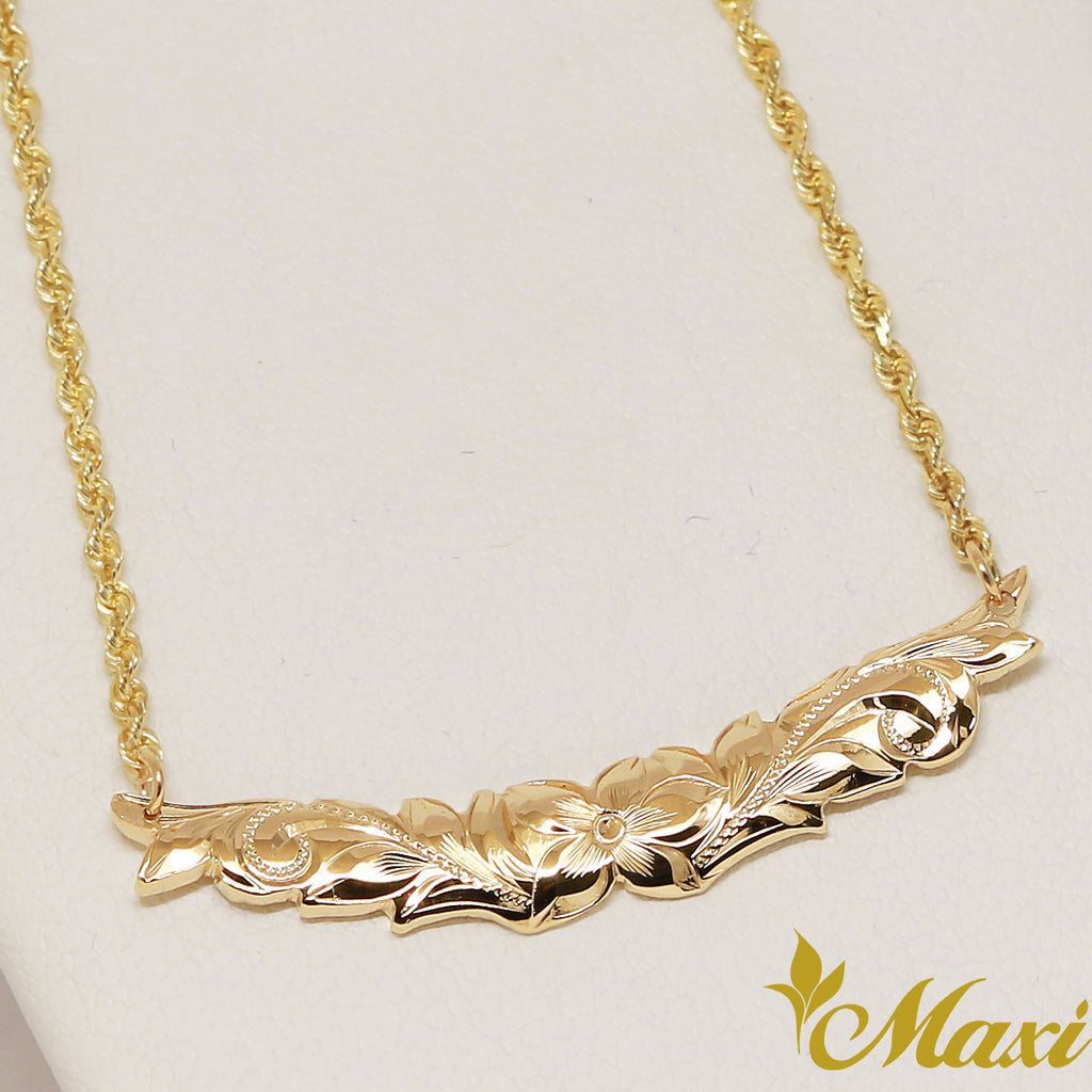 [14K Gold] 6mm Crescent Necklace