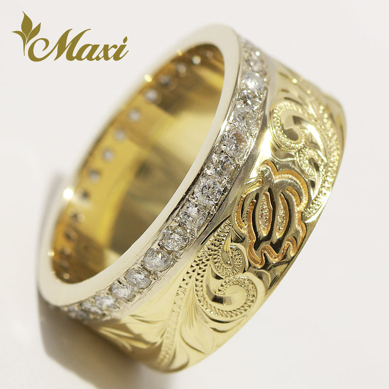[14K Gold] Eternity Honu Ring with Diamond