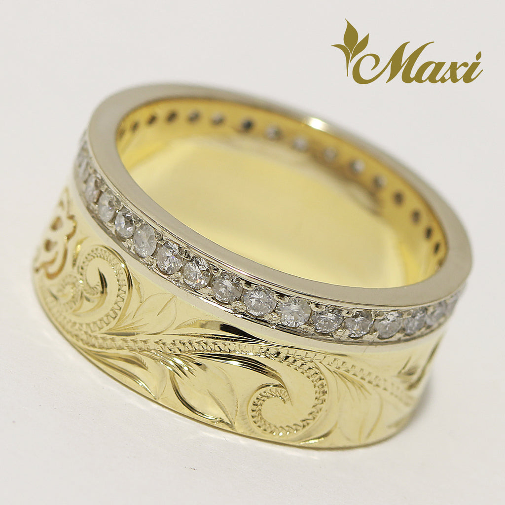 [14K Gold] Eternity Honu Ring 9mm [Made to order]