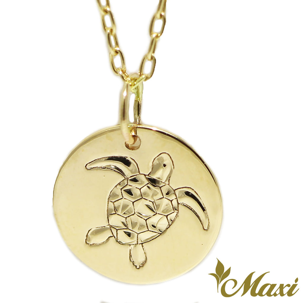 [14K Gold] Honu Medallion pendant  *Made-to-order*