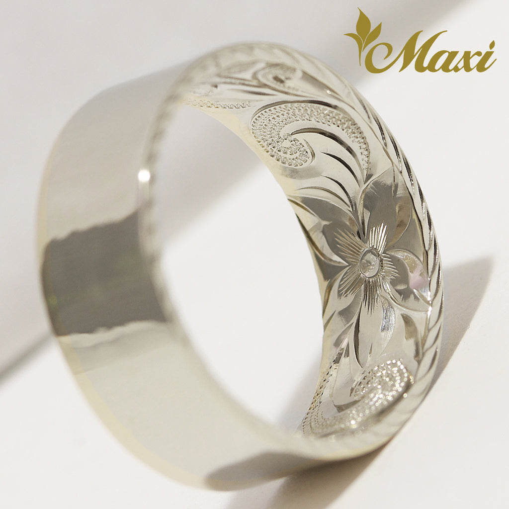 [14K Gold] 8mm Flat Inside Engraved Ring *Made to order*