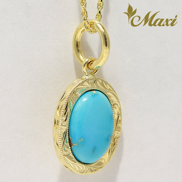 [14K Gold] Small Turquoise pendant Made to Order