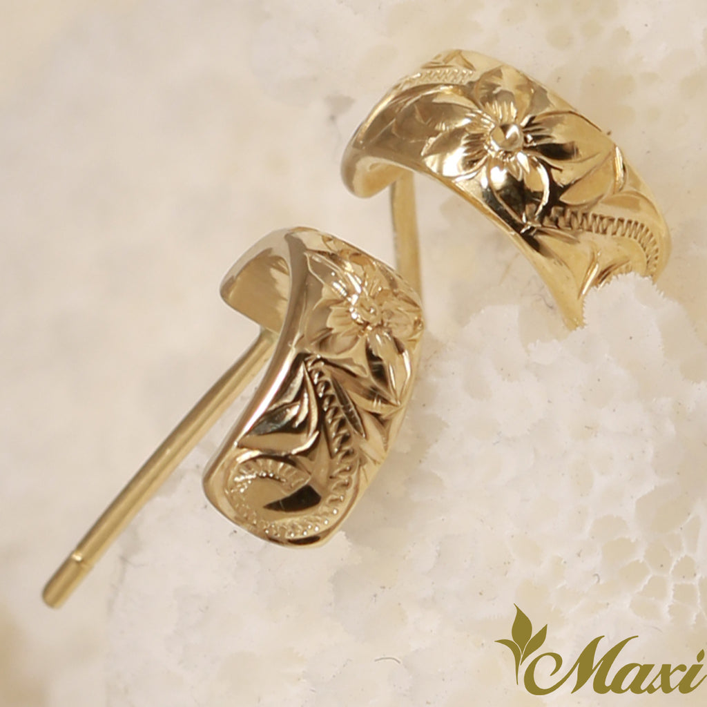 [14K Gold] Hoop Pierced Earring Smal*Made-to-order* (E0152)