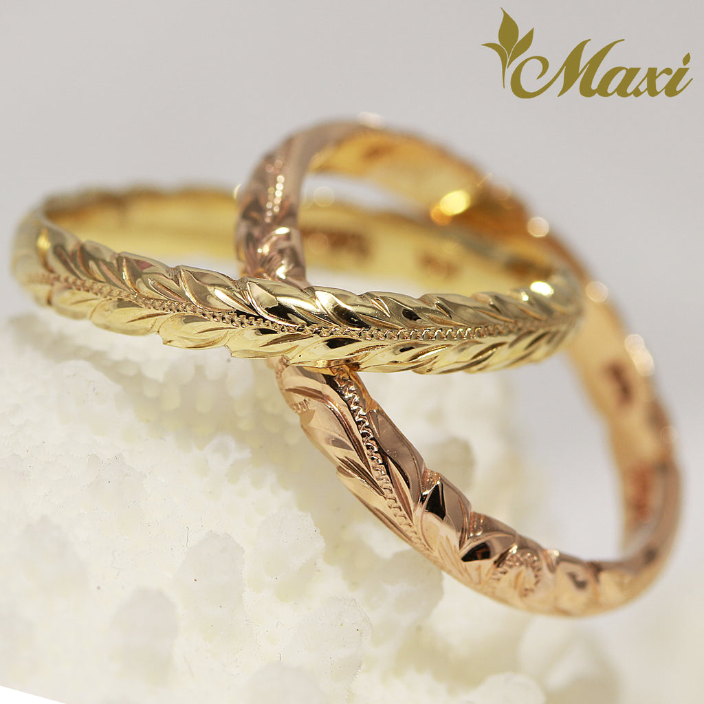 [14K Gold] 3mm Double Crossover Ring-1.2mm thick*Made to Order*