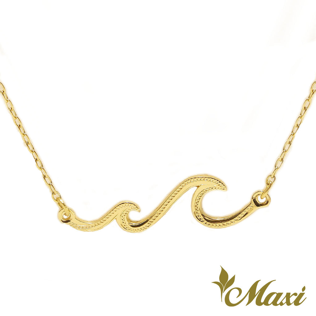 [14K Gold] Double Nalu Wave Necklace *Made-to-order* Newest