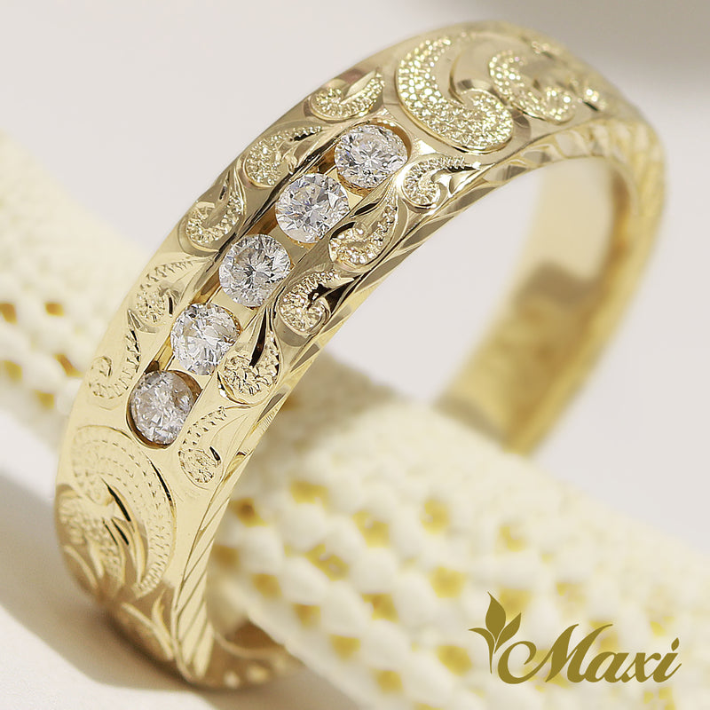 [14K Gold] 5 Diamond Ring [Made to Order]