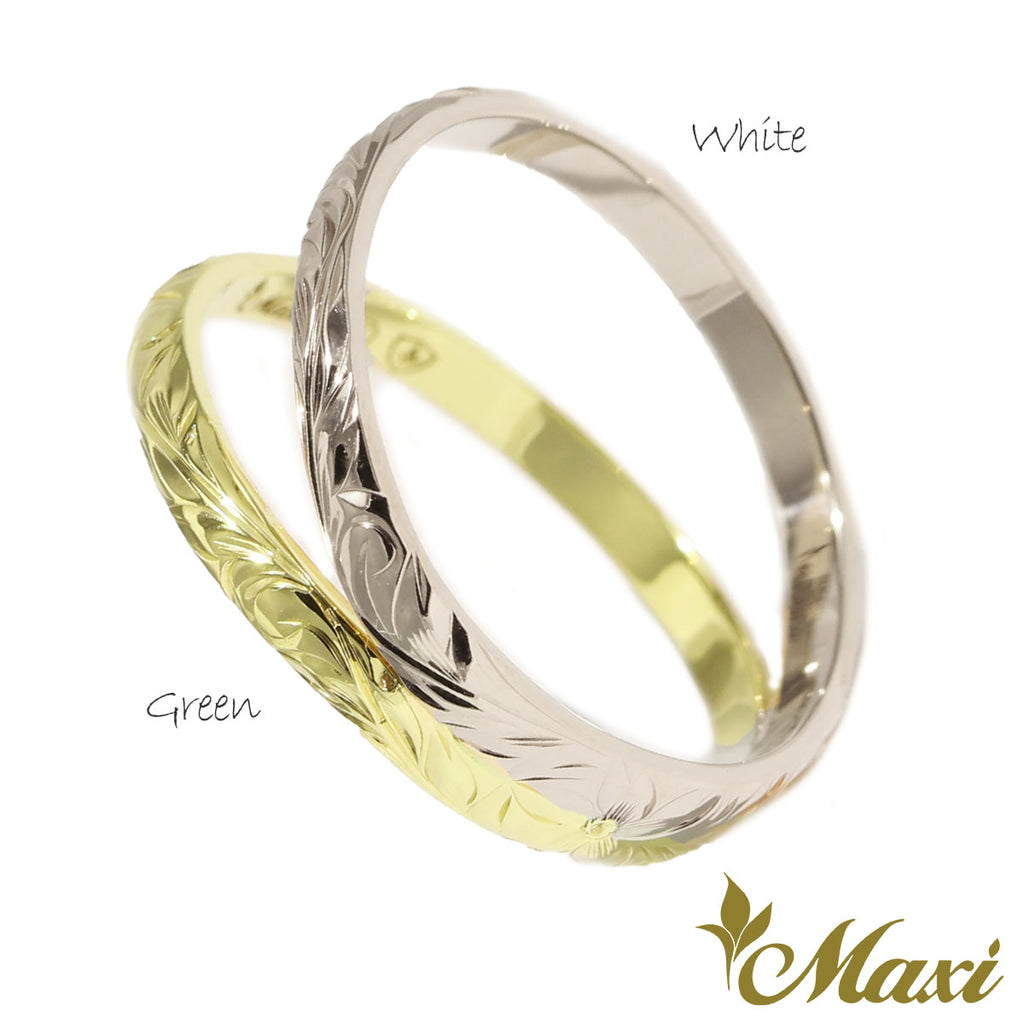 [14K Gold] Double Ring-Two Tone *Made to order*(SP KR0045-two tone)