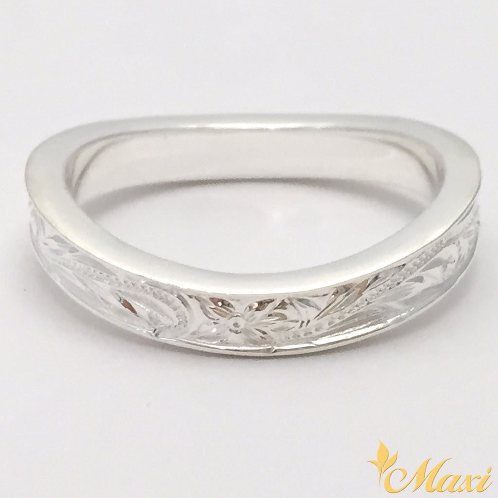 Silver 925 4mm Wave Ring