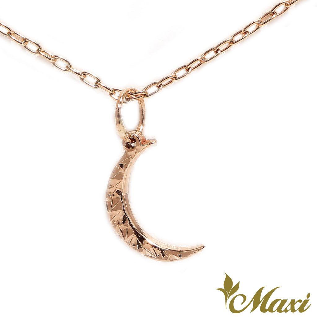 [14K Gold] Hoaka Crescent Moon Pendant*Made to order*Newest
