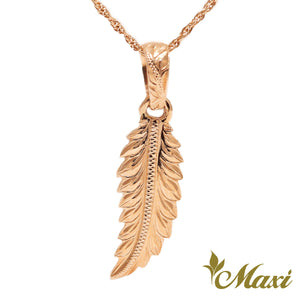 [14K Gold] Maile Leaf Pendant Large *Made-to-order* (P0111)