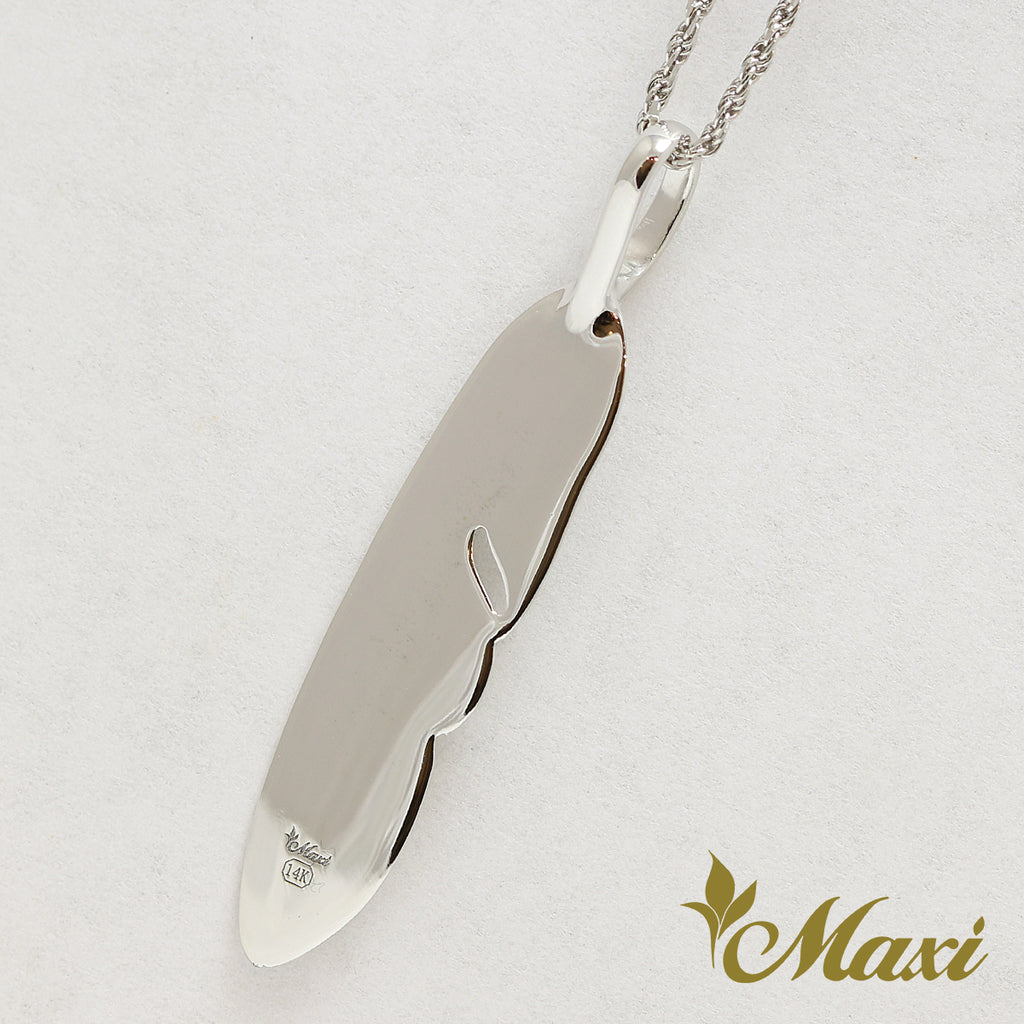 [14K Gold] Feather Pendant*Made to order* (P1183)