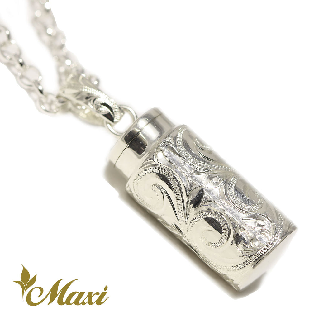 [Silver 925] Tube Shape Cremation Pendant*Made to Order*(P1203)