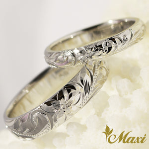 [Platinum] 3mm&5mm Platinum Pair Ring/ Couple & Wedding [Made to Order]