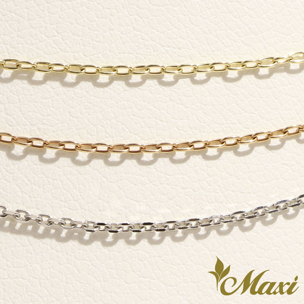 [14K Gold] 1mm Cable Chain