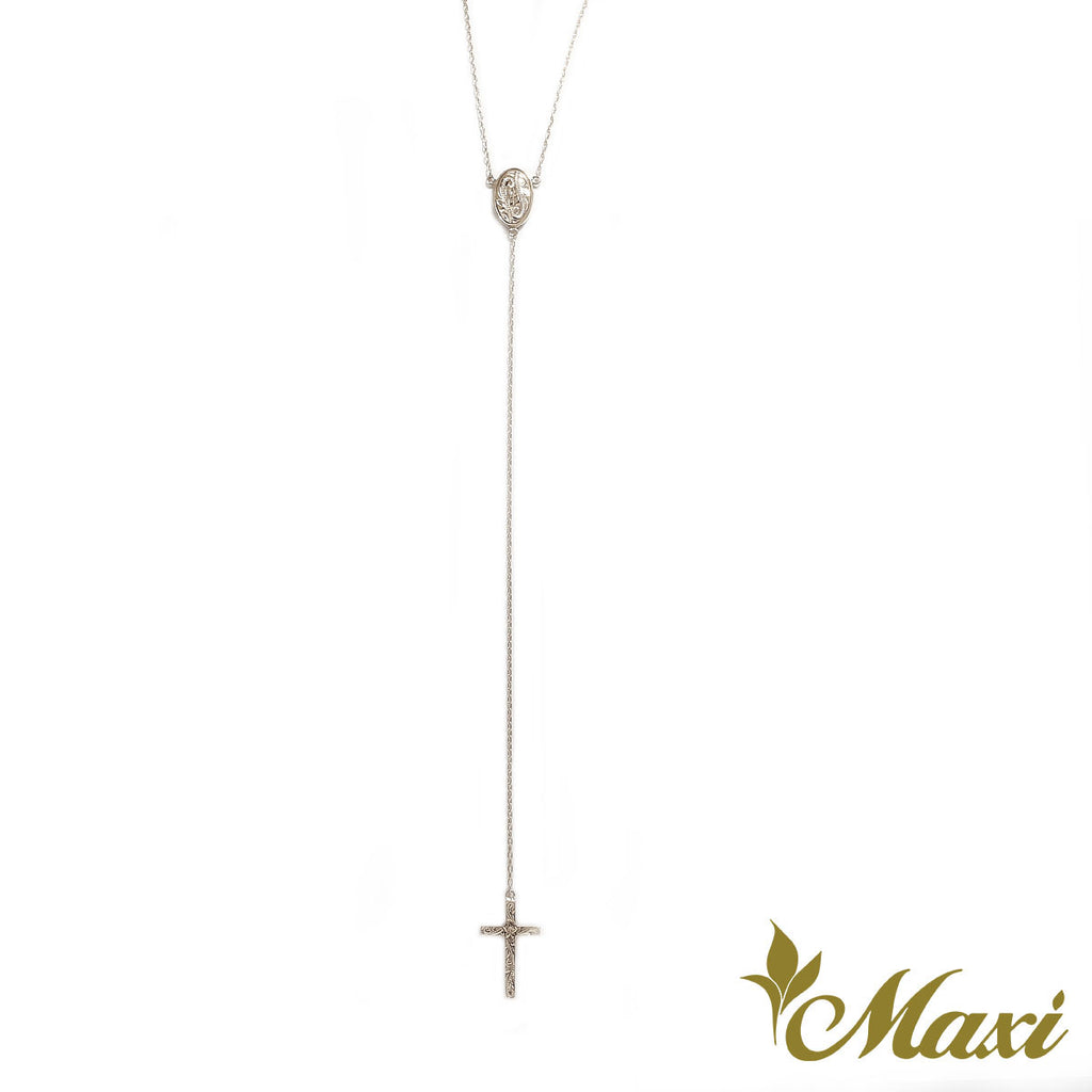 [14K Gold] Rosary Style Necklace Long *Made-to-order*(N0347)