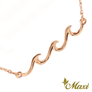[14K Gold] Triple Nalu Wave Anklet*Made to order*Newest