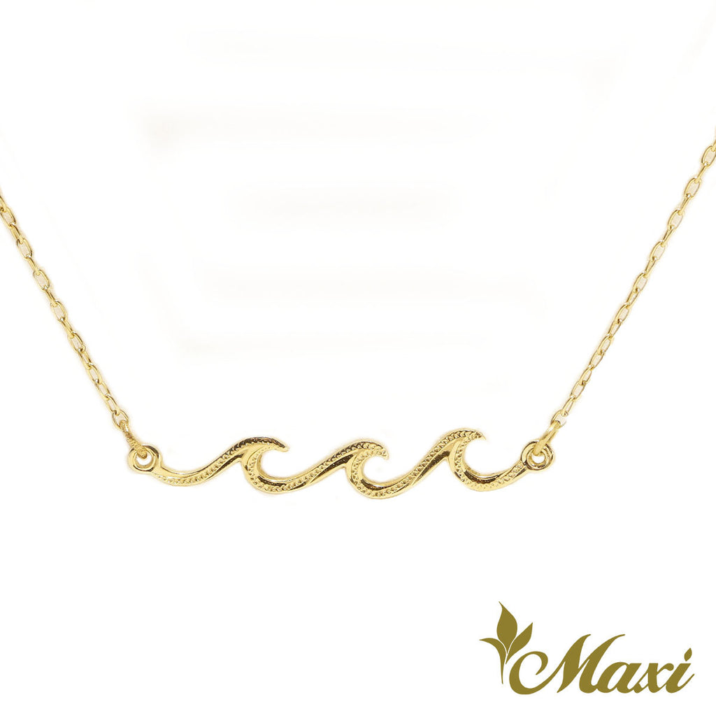 [14K Gold] Triple Nalu Wave Necklace *Made-to-order* Newest