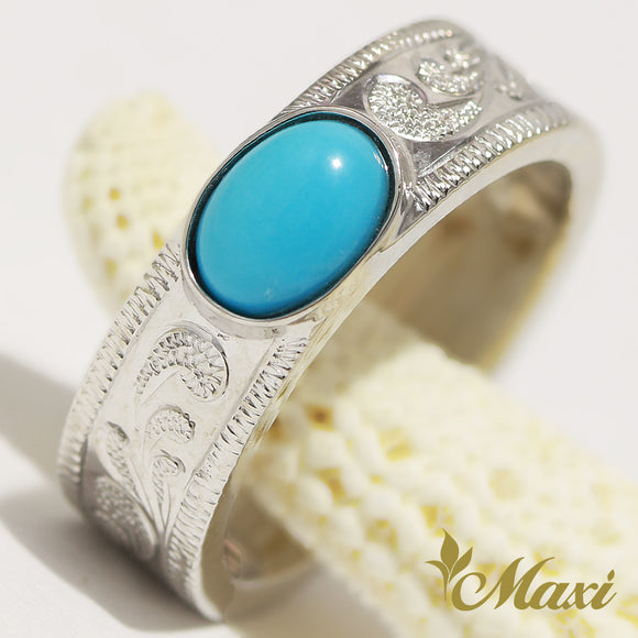 [14K Gold] 6mm Sleeping Beauty Turquoise Ring