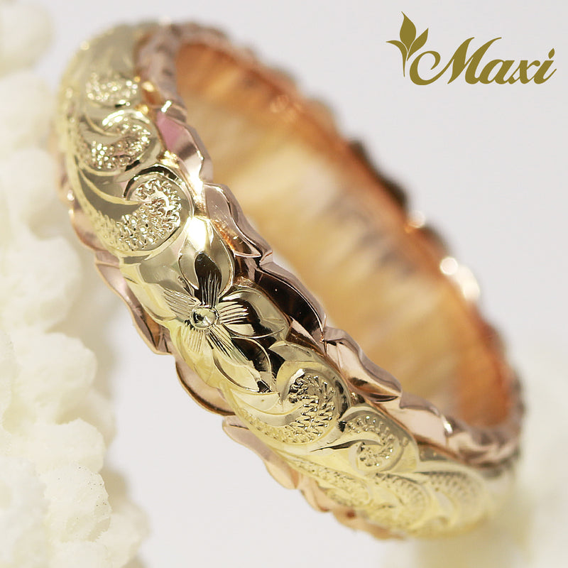 [14K Gold] Two Tone Ring 6mm/4mm [Made to Order]*Promotion