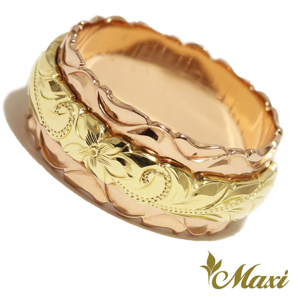 [14K Gold] 8x4mm Two Tone Ring*Promotion*