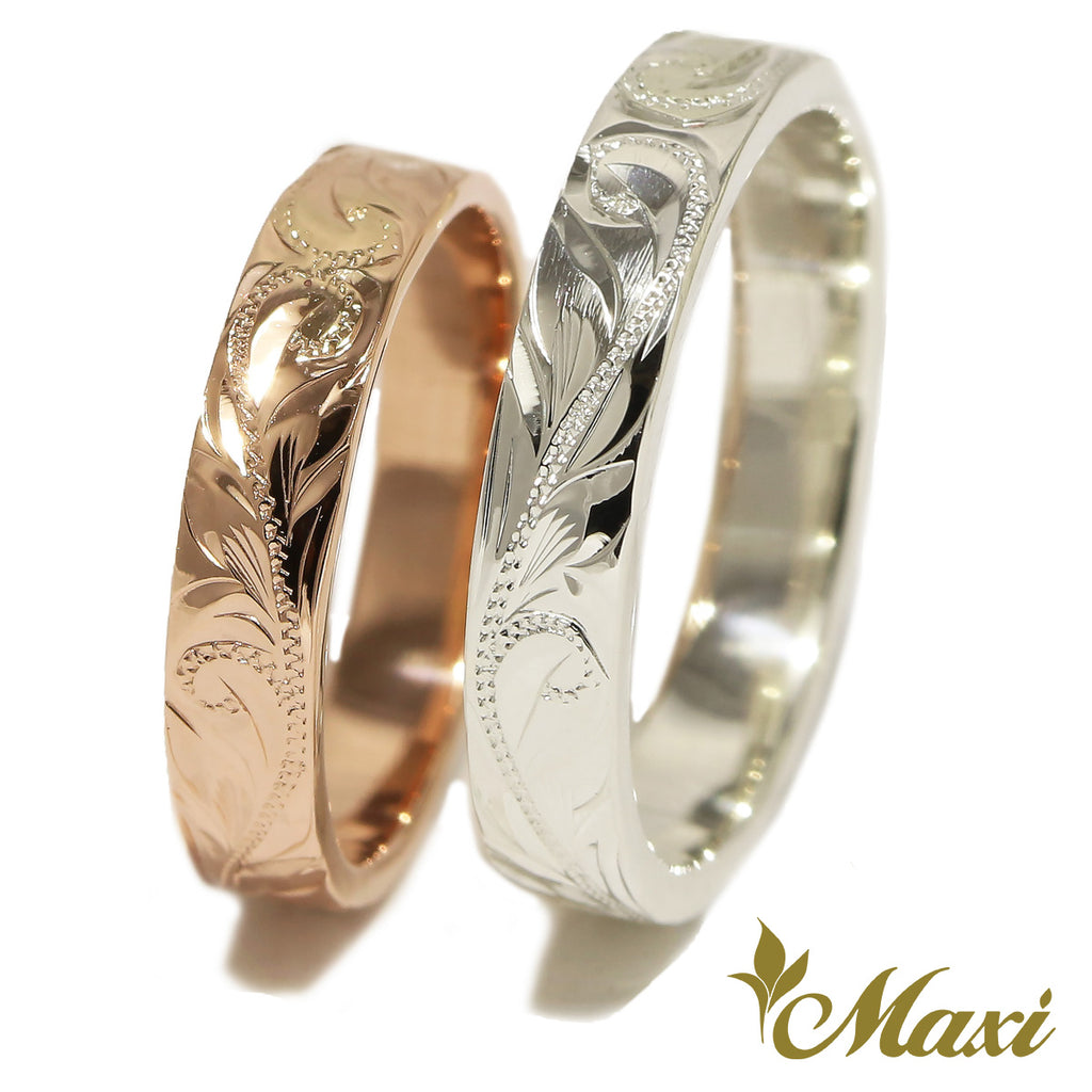 [14K Gold / Silver925] Hawaiian Hoku Star Couple Ring-Couple & Wedding *Made to Order* Newest KAUKAU