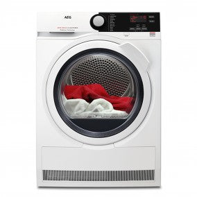 AEG T6DCE821B Stainless steel 8000 series 8kg condenser dryer