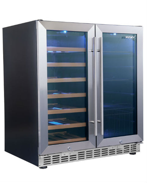 Stainless Steel Dual Zone Cabinet & Drink Chiller