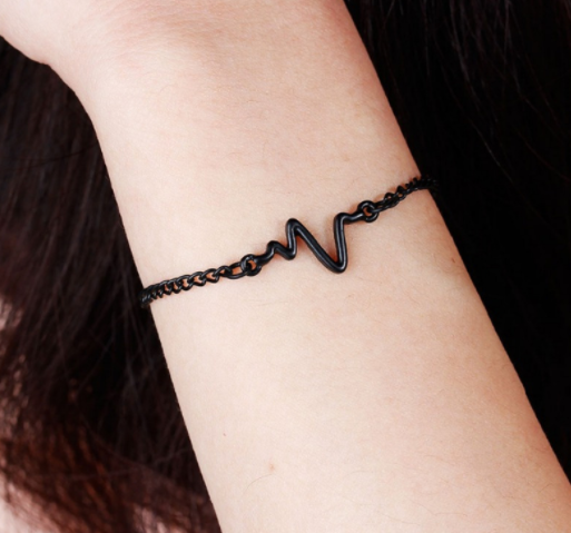 Heartbeat Rhythm Chain Bracelet Gold/Silver/Black