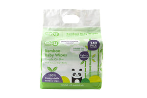 Baby U Bamboo Natural Baby Wipes 240