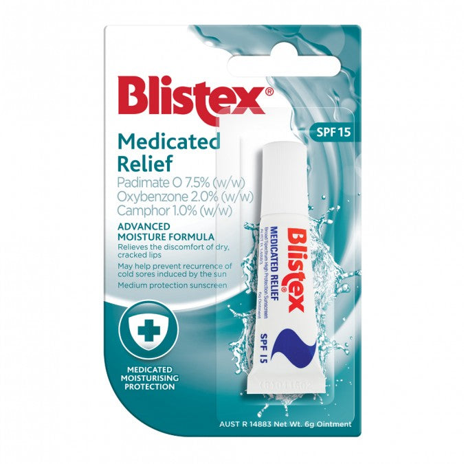 Blistex Medicated Relief SPF 15 Tube 6g