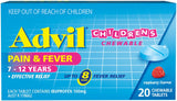 Advil 7-12 years Chewable Tabs 20