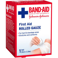 Band-Aid First Aid Gauze Roll 2.3m