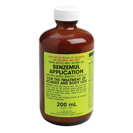 Benzemul Application Scabies & Body Lice 200mL