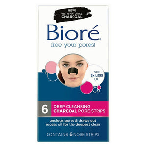 Biore Charcoal Deep Cleansing Pore Strips 6 Packs