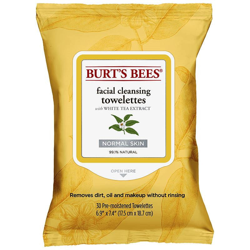 Burt's Bees White Tea Face Cleanser Wipes