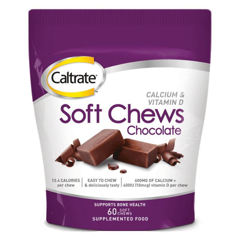 Caltrate Soft Chews Chocolate 60's