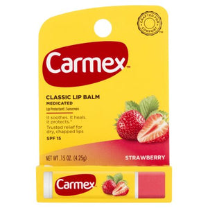 Carmex Lip Balm Strawberry Click Stick SPF15 x12