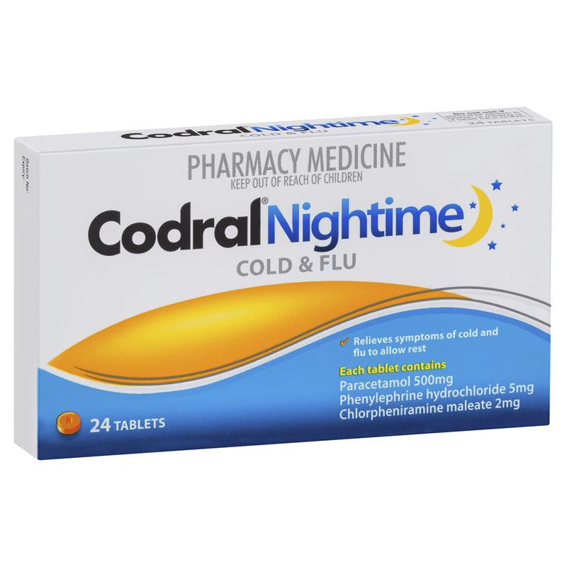 Codral PE Nighttime 24 Tablets