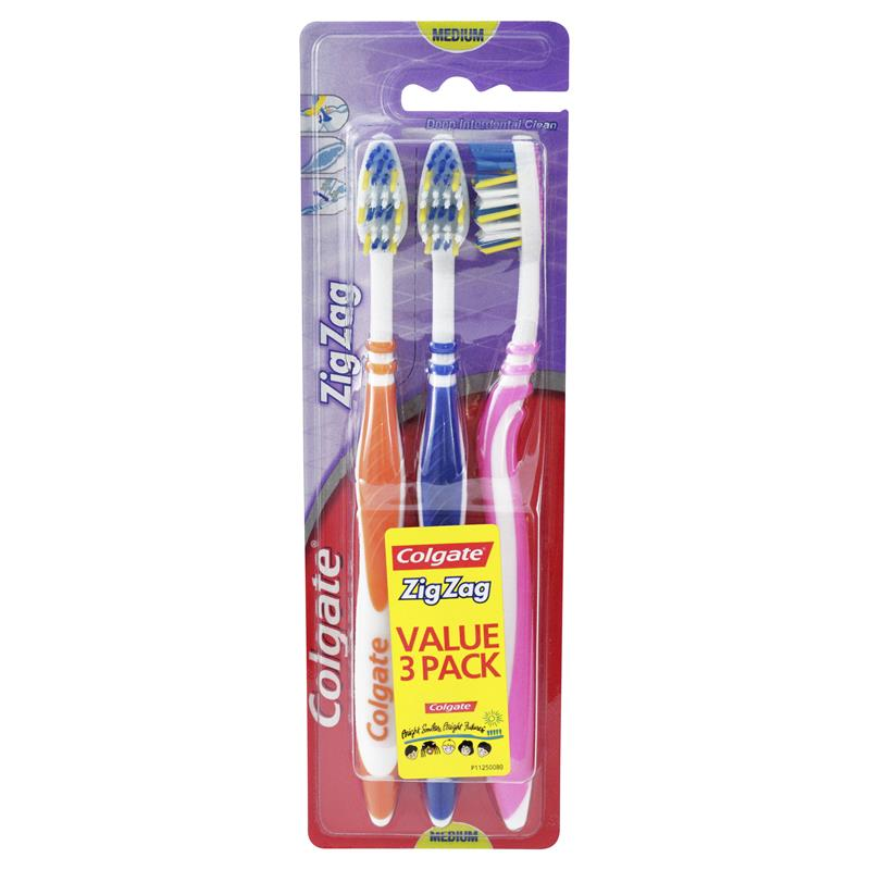 Colgate Toothbrush Zig Zag Adult 3 Pack x6