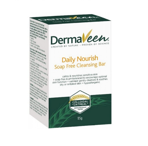 DermaVeen® Daily Nourish  Soap-Free Cleansing Bar 115g