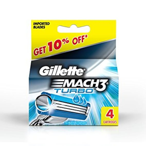 Gillette Mach 3 Turbo Cart 4 Pack