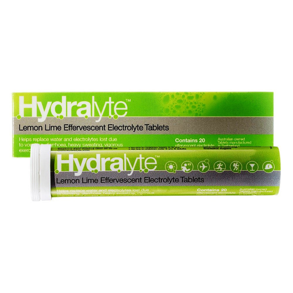 Hydralyte Lemon & Lime Effervescent 20 Tablets