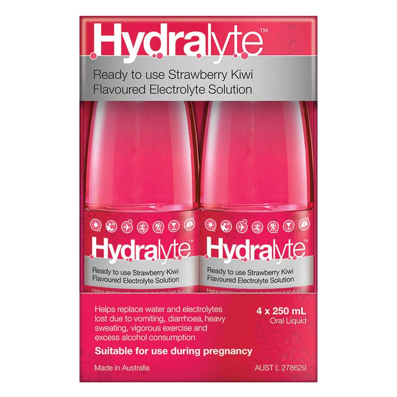 Hydralyte Strawberry Kiwi 4x250mL Solution