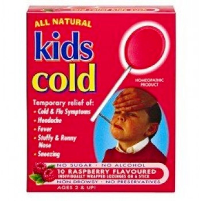 Kids Cold Lozenges Raspberry 10
