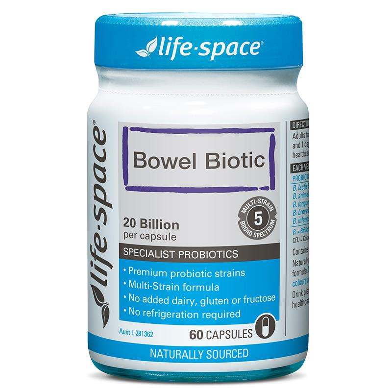 Life Space Bowel Biotic Capsules 60