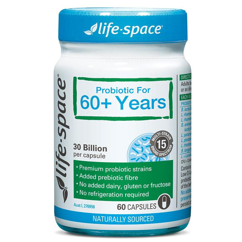 Life Space Probiotic 60+Years Capsules 60